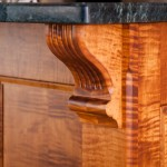 Tiger maple corbel bracket