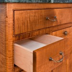 Tiger maple dovetailed drawers